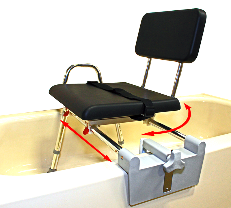 Padded Tub-Mount Swivel Sliding Transfer Bench - 77761
