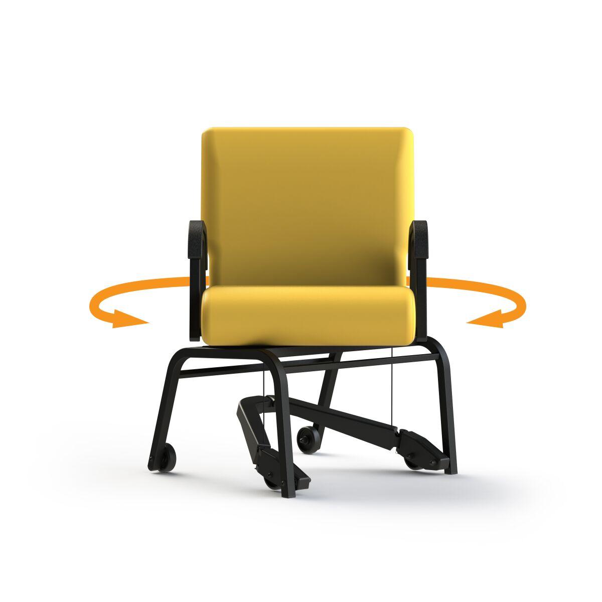 Marvelous Comfortek Titan Swivel Chair W Rez Mobility Assist Lever 22 Seat 300Lbs Kitchen Dining Desk Lemon Ibusinesslaw Wood Chair Design Ideas Ibusinesslaworg
