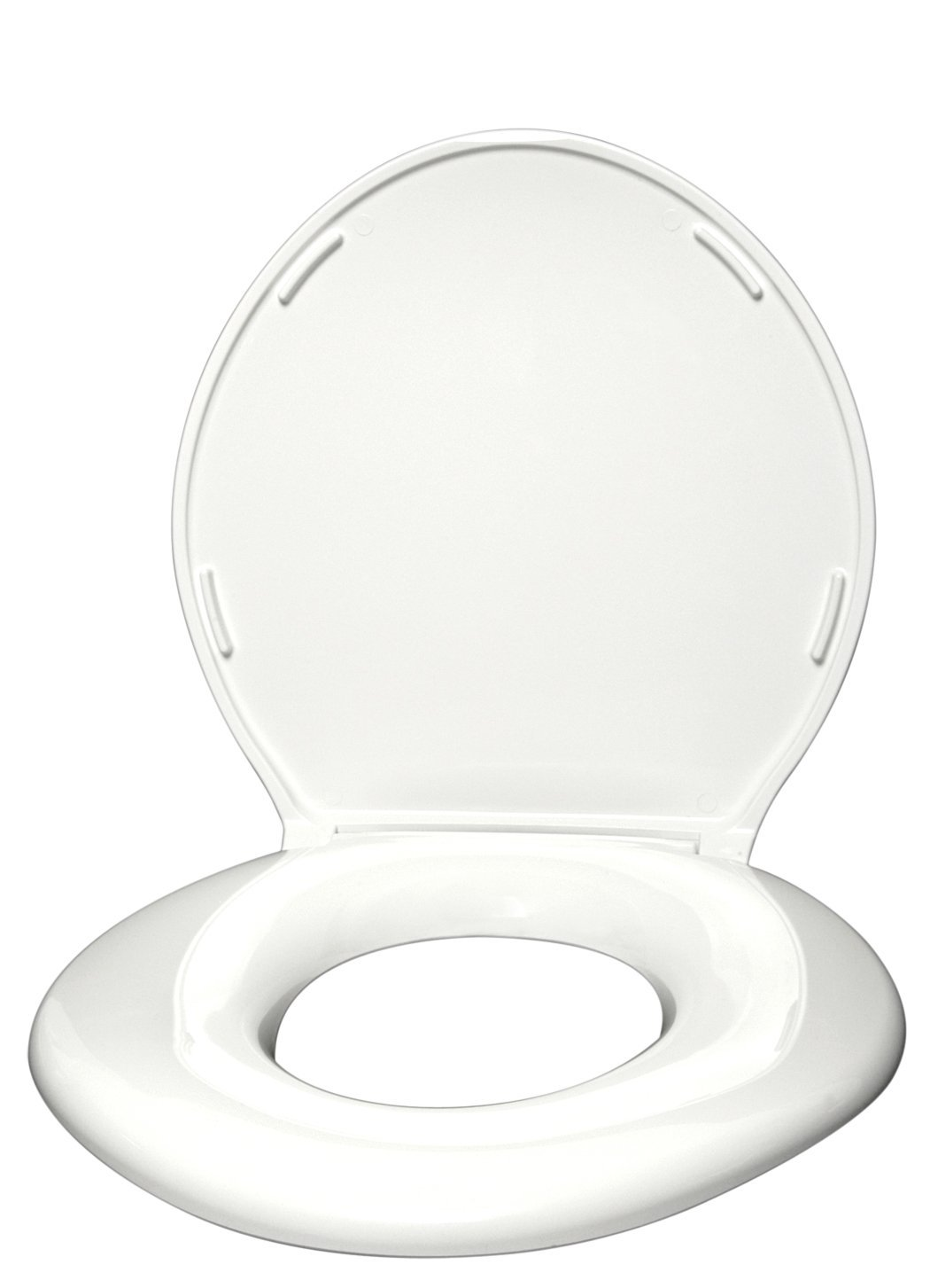 Big John Bariatric Toilet Seat 1-W Closed with Cover - White - 1200lbs