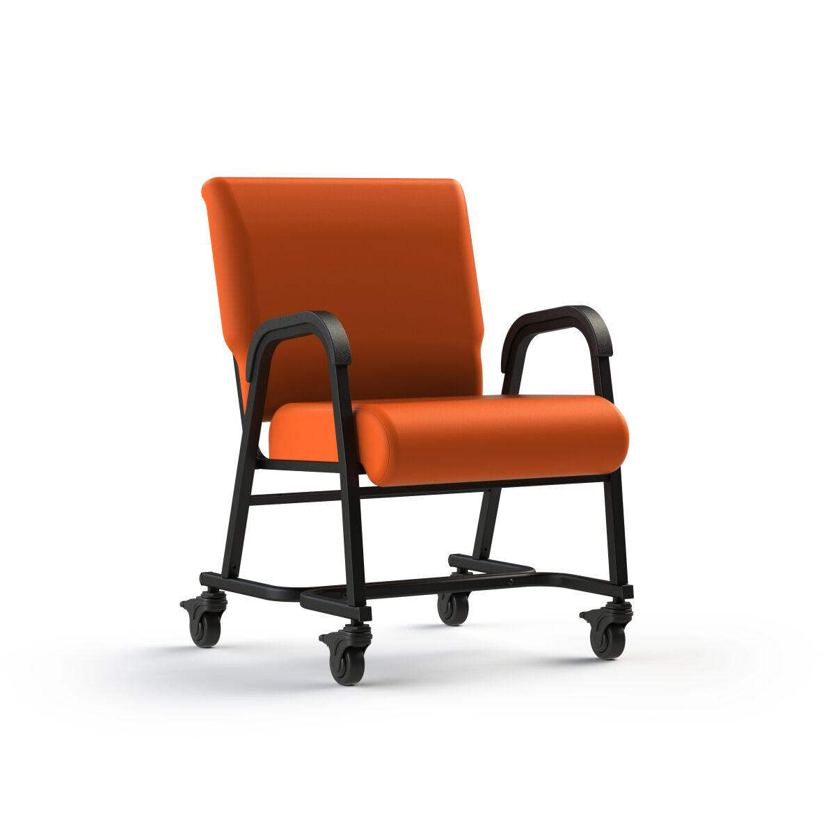 ComforTek Titan Bariatric Mobility Assist Chair w/Casters 600lbs - Kitchen/Dining/Desk - Tangerine