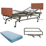 Full High/Low Electric Hospital Bed w/Rails & Innerspring Mattress