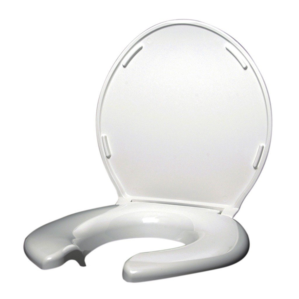 Big John Original Toilet Seat 3-W Open Front w/Cover - 1200lbs