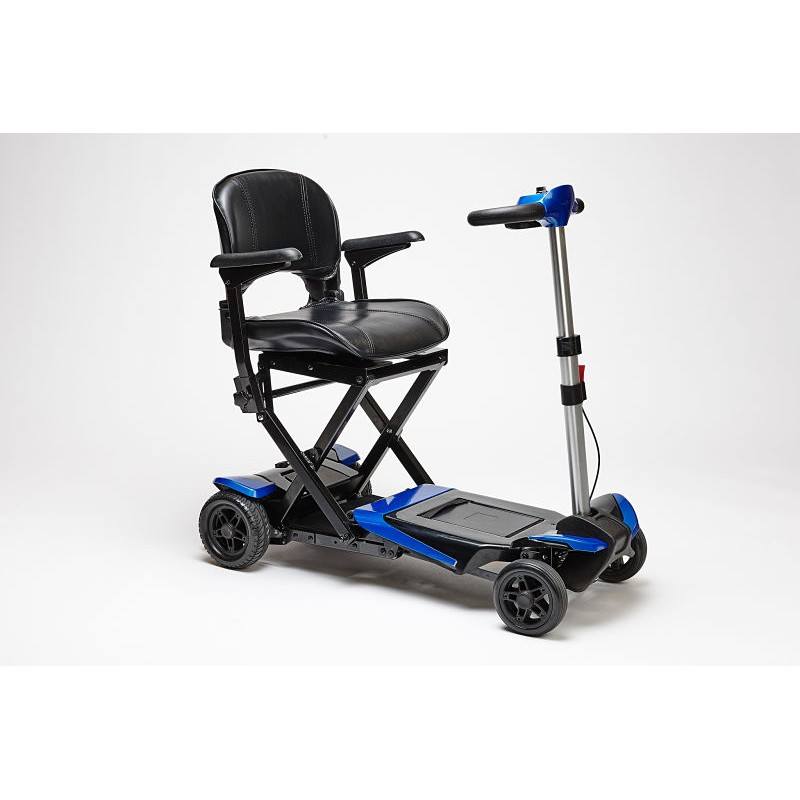 Enhance Mobility Transformer 4-Wheel Folding Scooter - Blue