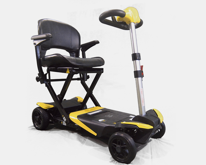 Enhance Mobility Transformer 4-Wheel Folding Scooter - Yellow