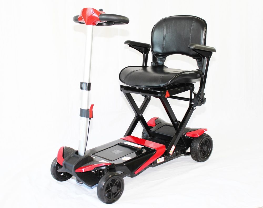 Enhance Mobility Transformer 4-Wheel Folding Scooter - Red