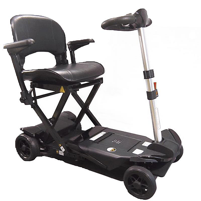 Enhance Mobility Transformer 4-Wheel Folding Scooter - Black
