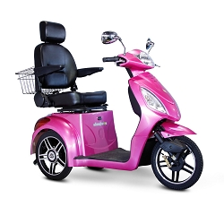 eWheels EW-36 3-Wheel Mobility Scooter 350lbs Speed 18mph - Pink