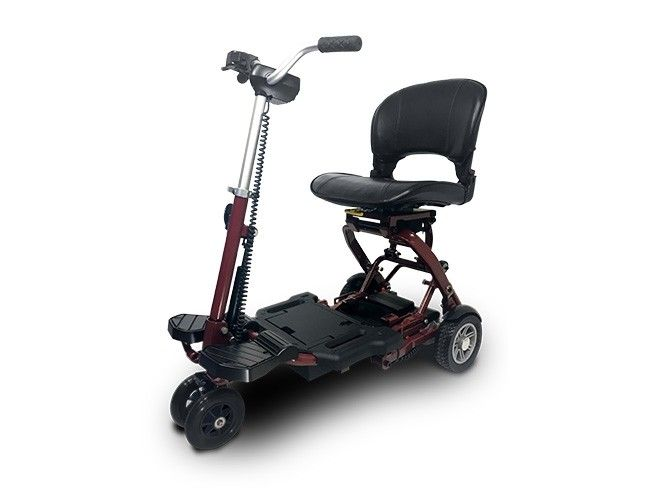 EV Rider MiniRider Folding 4-Wheel Electric Scooter - Red