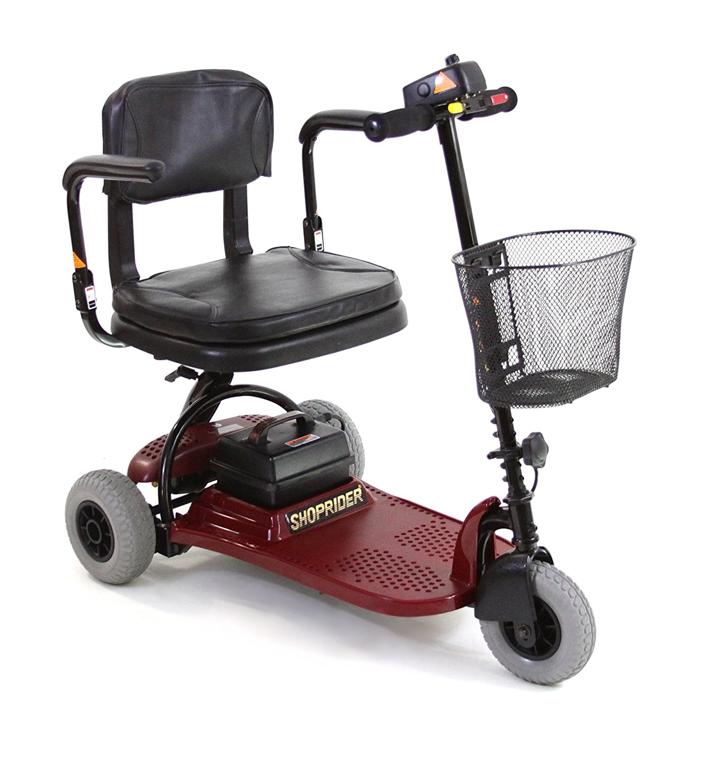 Shoprider Echo 3 Wheel Mobility Scooter, Red