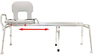 Toilet-to-Tub Sliding Transfer Bench - 3 Sizes