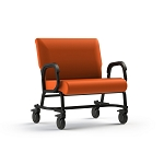 "ComforTek Titan Bariatric Mobility Assist Chair w/Casters - 30""W Seat - 600lbs - Tangerine"