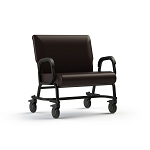 "ComforTek Titan Bariatric Mobility Assist Chair w/Casters - 30""W Seat - 600lbs - Root Beer"