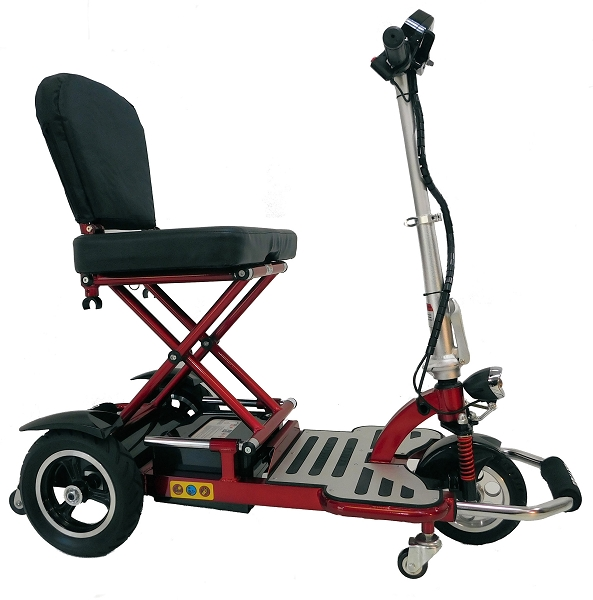 Enhance Mobility TRIAXE CRUZE Foldable 3-Wheel Scooter w/Basket - Red