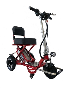 Enhance Mobility Triaxe Sport Portable Folding 3-Wheel Scooter - Red