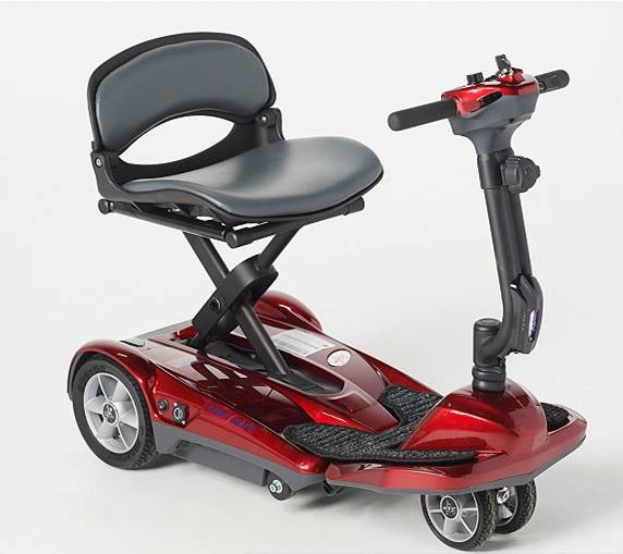 EV Rider Transport AF Plus Auto Folding Scooter Ultralight Long Range - Red