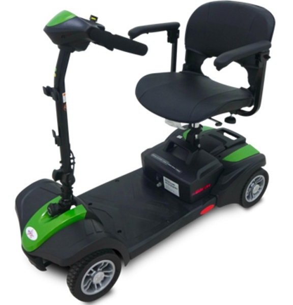 EV Rider MiniRider Lite 4-Wheel Mobility Scooter w/ Basket 12Ah Swivel Seat - GREEN