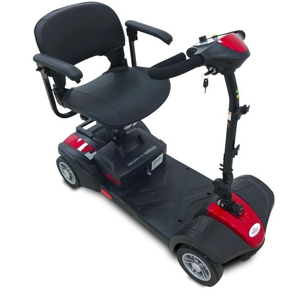 EV Rider MiniRider Lite 4-Wheel Mobility Scooter w/ Basket 12Ah Swivel Seat - RED