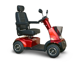 Breeze C4 Mid Size 4-Wheel Scooter w/Full Suspension 9.3 mph - Red