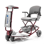 Tzora Classic (Lexis Easy Light) Ultralight 4-Wheel Folding Scooter - Red