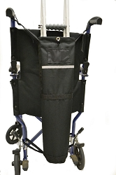 Crutch Carrier for Wheelchairs & Chairs with Push Handles