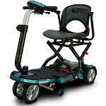 EV Rider TranSport Plus 4-Wheel Folding Mobility Scooter SLA Batteries - Blue