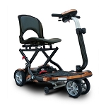EV Rider TranSport Plus 4-Wheel Folding Mobility Scooter SLA Batteries - Copper