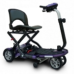 EV Rider TranSport Plus 4-Wheel Folding Mobility Scooter SLA Batteries - Plum