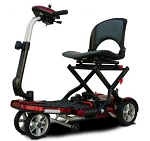 EV Rider TranSport Plus 4-Wheel Folding Mobility Scooter SLA Batteries Burgundy