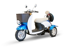 eWheels EW-11 3-Wheel Mobility Scooter 400lbs Speed 18mph - Blue/White