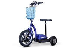 EW-18 Ewheels Stand and Ride Scooter - Blue