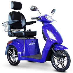 eWheels EW-36 3-Wheel Mobility Scooter 350lbs Speed 18mph - Blue