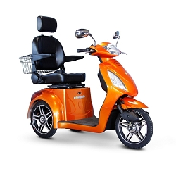 eWheels EW-36 3-Wheel Mobility Scooter 350lbs Speed 18mph - Orange