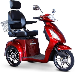 eWheels EW-36 3-Wheel Mobility Scooter 350lbs Speed 18mph - Red