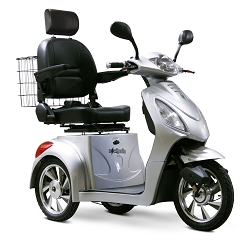 eWheels EW-36 3-Wheel Mobility Scooter 350lbs Speed 18mph - Silver