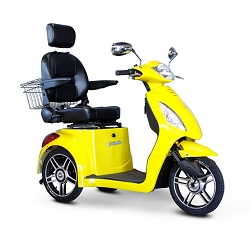 eWheels EW-36 3-Wheel Mobility Scooter 350lbs Speed 18mph - Yellow