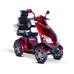 eWheels EW-72 4-Wheel 700W High Power Electric Mobility Scooter 500lbs - Red