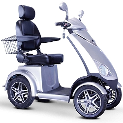 E-Wheels EW-72 4-Wheel 700W High Power Electric Mobility Scooter 500lbs - Silver
