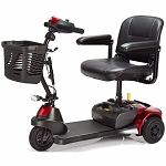 Merits Roadster Deluxe 3-Wheel Mobility Scooter - Red