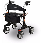 EV Rider Move-X Rollator Foldable 4-Wheel Walker - Black