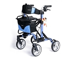 EV Rider Move-X Rollator Foldable 4-Wheel Walker - Blue
