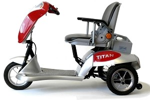 Tzora Titan 3-Wheel Foldable Scooter - Red