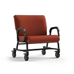 "ComforTek Titan Bariatric Mobility Assist Chair w/Casters - 30""W Seat - 600lbs - Cordovan"