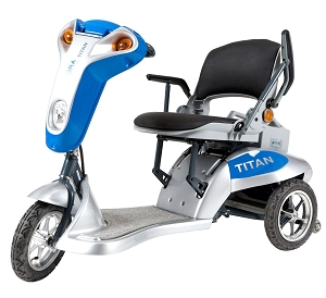 Tzora Titan 3-Wheel Foldable Scooter - Blue