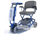 Tzora Classic (Lexis Easy Light) Ultralight 4-Wheel Folding Scooter - Blue