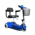 Zip'r 3 Xtra Hybrid Mobility Scooter - 250lbs - Blue