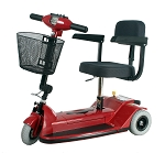 Zip'r 3 Xtra Hybrid Mobility Scooter - 250lbs - Red