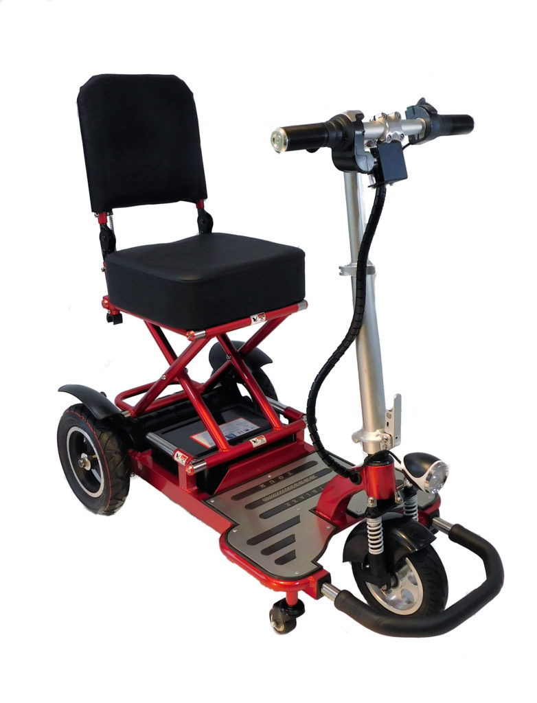 Enhance Mobility Triaxe Tour T3050 Folding 3-Wheel Mobility Scooter - Red
